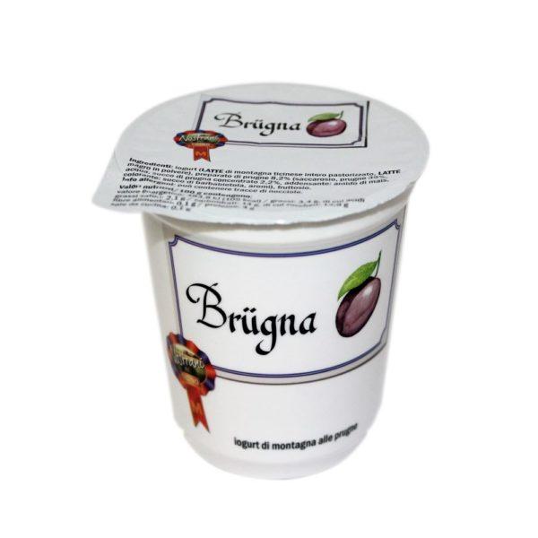 Yogurt Di Montagna Alle Prugne Brügna 180g Nostrani Del Ticino Agroval