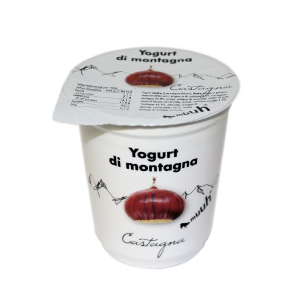 Yogurt Di Montagna Castagna 180g Muuh Agroval