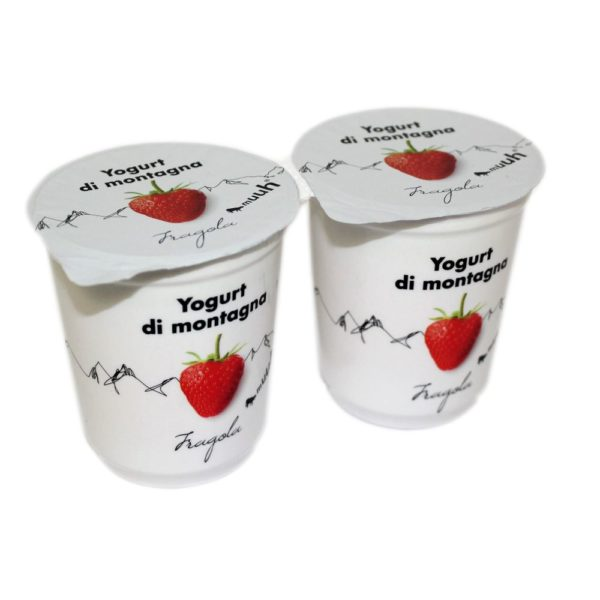 Yogurt Di Montagna Fragola 2x180g Muuh Agroval