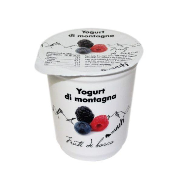 Yogurt Di Montagna Frutti Di Bosco 180g Muuh Agroval