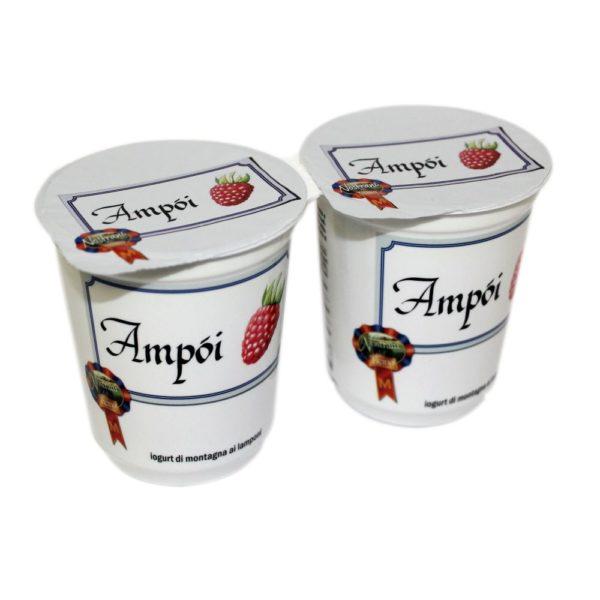 Yogurt Di Montagna Ai Lamponi Ampòi 2x180g Nostrani Del Ticino Agroval