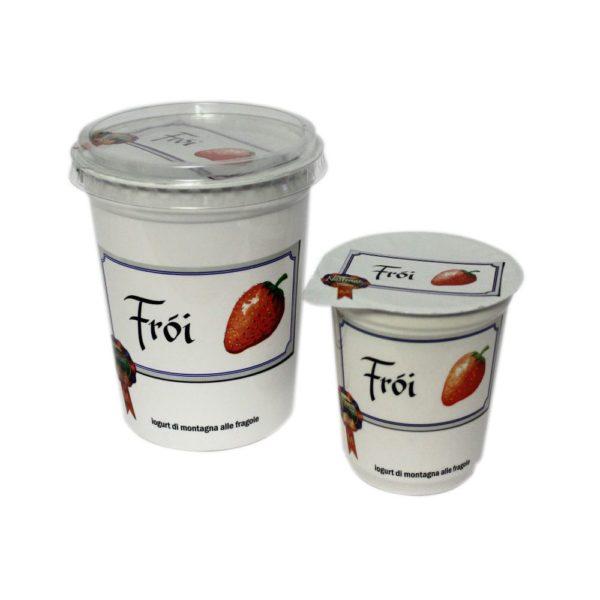 Yogurt Di Montagna Alle Fragole Fròi 180g 500g Nostrani Del Ticino Agroval