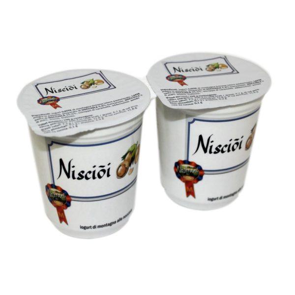 Yogurt Di Montagna Alle Nocciole Nisciòi 2x180g Nostrani Del Ticino Agroval