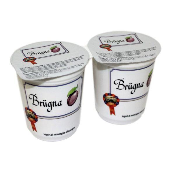 Yogurt Di Montagna Alle Prugne Brügna 2x180g Nostrani Del Ticino Agroval