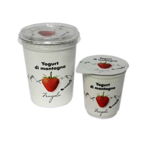 Yogurt Di Montagna Fragola 180g 500g Muuh Agroval