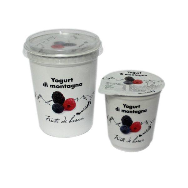 Yogurt Di Montagna Frutti Di Bosco 180g 500g Muuh Agroval